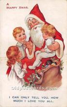 hol016241 - Santa Claus Postcard Old Vintage Christmas Post Card