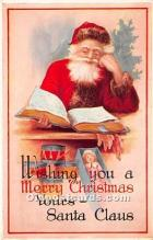 hol016242 - Santa Claus Postcard Old Vintage Christmas Post Card