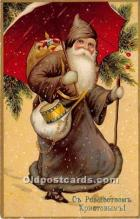 hol016244 - Santa Claus Postcard Old Vintage Christmas Post Card