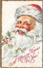 hol016246 - Santa Claus Postcard Old Vintage Christmas Post Card