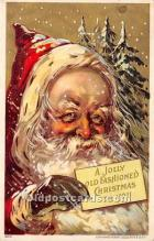 hol016248 - Santa Claus Postcard Old Vintage Christmas Post Card