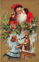 hol016250 - Santa Claus Postcard Old Vintage Christmas Post Card