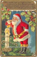 hol016251 - Santa Claus Postcard Old Vintage Christmas Post Card