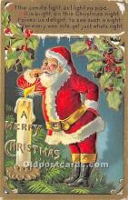 hol016252 - Santa Claus Postcard Old Vintage Christmas Post Card