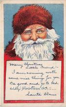 hol016253 - Santa Claus Postcard Old Vintage Christmas Post Card