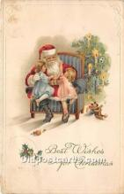 hol016254 - Santa Claus Postcard Old Vintage Christmas Post Card