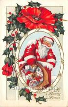 hol016255 - Santa Claus Postcard Old Vintage Christmas Post Card