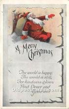hol016256 - Santa Claus Postcard Old Vintage Christmas Post Card