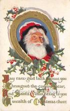 hol016257 - Santa Claus Postcard Old Vintage Christmas Post Card