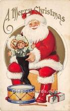 hol016258 - Santa Claus Postcard Old Vintage Christmas Post Card