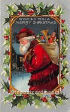 hol016259 - Santa Claus Postcard Old Vintage Christmas Post Card