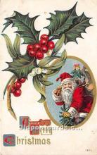 hol016260 - Santa Claus Postcard Old Vintage Christmas Post Card