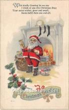 hol016262 - Santa Claus Postcard Old Vintage Christmas Post Card