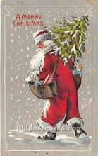 hol016265 - Santa Claus Postcard Old Vintage Christmas Post Card