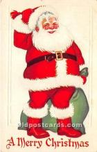 hol016266 - Santa Claus Postcard Old Vintage Christmas Post Card