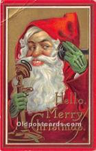 hol016267 - Santa Claus Postcard Old Vintage Christmas Post Card