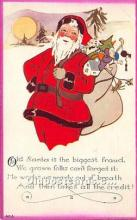 hol016268 - Santa Claus Postcard Old Vintage Christmas Post Card