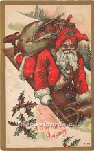 hol016269 - Santa Claus Postcard Old Vintage Christmas Post Card
