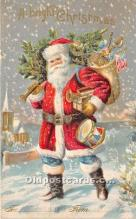 hol016270 - Santa Claus Postcard Old Vintage Christmas Post Card