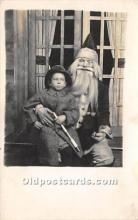 hol016272 - Santa Claus Postcard Old Vintage Christmas Post Card