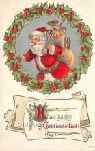 hol016273 - Santa Claus Postcard Old Vintage Christmas Post Card