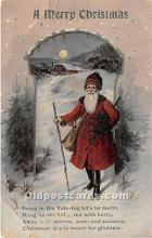 hol016274 - Santa Claus Postcard Old Vintage Christmas Post Card