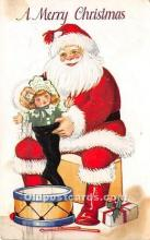 hol016275 - Santa Claus Postcard Old Vintage Christmas Post Card