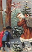 hol016279 - Santa Claus Postcard Old Vintage Christmas Post Card