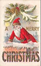 hol016282 - Santa Claus Postcard Old Vintage Christmas Post Card