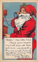 hol016283 - Santa Claus Postcard Old Vintage Christmas Post Card