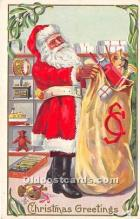 hol016287 - Santa Claus Postcard Old Vintage Christmas Post Card