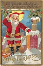 hol016288 - Santa Claus Postcard Old Vintage Christmas Post Card