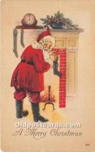 hol016290 - Santa Claus Postcard Old Vintage Christmas Post Card