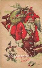 hol016291 - Santa Claus Postcard Old Vintage Christmas Post Card