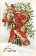 hol016292 - Santa Claus Postcard Old Vintage Christmas Post Card