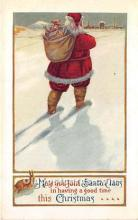 hol016293 - Santa Claus Postcard Old Vintage Christmas Post Card