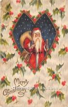 hol016295 - Santa Claus Postcard Old Vintage Christmas Post Card