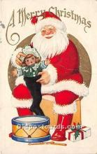 hol016296 - Santa Claus Postcard Old Vintage Christmas Post Card