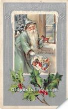 hol016297 - Santa Claus Postcard Old Vintage Christmas Post Card