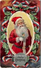 hol016299 - Santa Claus Postcard Old Vintage Christmas Post Card