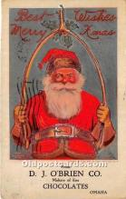hol016300 - Santa Claus Postcard Old Vintage Christmas Post Card