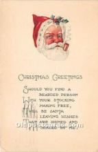 hol016303 - Santa Claus Postcard Old Vintage Christmas Post Card