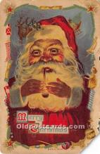 hol016304 - Santa Claus Postcard Old Vintage Christmas Post Card