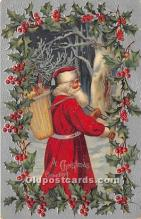 hol016305 - Santa Claus Postcard Old Vintage Christmas Post Card