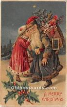 hol016306 - Santa Claus Postcard Old Vintage Christmas Post Card