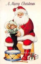 hol016308 - Santa Claus Postcard Old Vintage Christmas Post Card