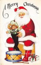 hol016309 - Santa Claus Postcard Old Vintage Christmas Post Card