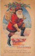hol016310 - Santa Claus Postcard Old Vintage Christmas Post Card