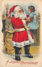 hol016312 - Santa Claus Postcard Old Vintage Christmas Post Card