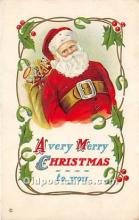 hol016315 - Santa Claus Postcard Old Vintage Christmas Post Card